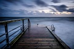 Hvidbjerg Strand (Stefan K0n@th) Tags: fujifilmxt2 longtimeexposure seaside sea sky ocean autumn wind denmark blåvand hvidbjergstrand fujinonxf14mm28 pier bluehour