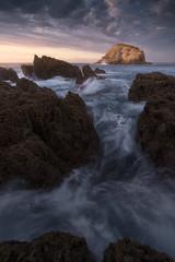Costa Quebrada (Pablo RG) Tags: costa mar seascape nature sunset atardecer cantabria paisaje landscape spain nikon rocas cantabrico
