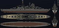 Mogera (Cagerrin) Tags: lego system ship warship cruiser heavycruiser takao mogami ldd legodigitaldesigner 3d model
