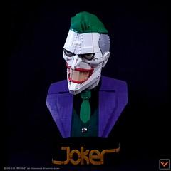 Joker Bust (ZetoVince) Tags: lego moc joker batman thejoker dark knight dc comics zeto zetovince