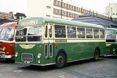 United Counties Omnibus Co . 157 157BRP . Victoria Coach Station , London . June-1969 . (AndrewHA's) Tags: bus coach victoria london united counties omnibus 157 157brp bristol mw ecw dualpurpose nottingham express route mx1