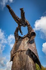 Worker's memorial St. Helens (Steve Samosa Photography) Tags: england unitedkingdom sthelens sculpture heritage bronzestatue merseyside worker'smemorial