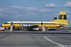 G-AOVG / RTM early 1970s (propfreak) Tags: propfreak propfreakcollection slidescan rtm ehrd rotterdam gaovg bristol b175 britannia312 monarch boac bristolbritannia