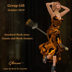 Group Gift - October 2019 (Glitterati by Sapphire) Tags: halloween sapphireteebrook glitteratibysapphire secondlife secondlifefashion sapphireteebrookglitteratibysapphiresapphireteebrookgownsredcarpetgownskirtlacesilk