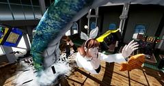 Gachas are Dangerous (usasenpai) Tags: sl secondlife arcade monster danger gacha machine broken funny