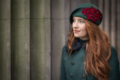 Shannon (Leanne Boulton) Tags: street portrait urban stranger portraiture 100strangers streetphotography streetportrait streetlife red woman green girl beautiful beauty face female hair eyes pretty mood emotion expression style redhead column feeling colourful beret fasion detail texture bokeh depthoffield tone light outdoor naturallight shade life city people living humanity culture lifestyle scene human society uk colour canon scotland glasgow 70mm canon5dmkiii ef2470mmf28liiusm