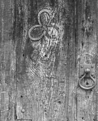 A Two Leaf Clover Door (ron-charles) Tags: mojavedesert precivilwar abandonedcabindoor hardwaremadebyblacksmith