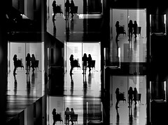 Artful Conversation (pjpink) Tags: vmfa virginiamuseumoffinearts virginiamuseum museum art rva richmond virginia may 2019 spring pjpink 2catswithcameras abstract abstraction blackandwhite bw monochrome uncolored colorless
