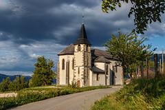 Le soleil sous les nuages.... (Savoie 09/2019) (gerardcarron) Tags: 18135 avantpayssavoyard campagne canoneos80d church ciel cloud eglise nature paysage savoie soleil village