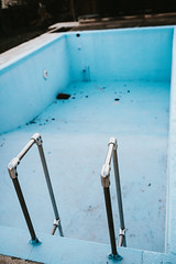 Empty blue swimming pool prepare for clean up (shixart1985) Tags: automation autumn backyard big blue bottom bright brush business care chemical cleaner cleaning clear cold color concrete day dirt dirty dry empty equipment floor ground home nobody safe safety