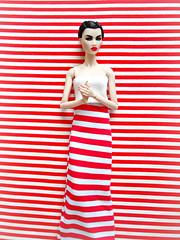 A-Z Challenge 3.0: C - Camouflaged (Deejay Bafaroy) Tags: azchallenge30ccamouflaged azchallenge30 c camouflaged az challenge fashion royalty fr fr2 integrity toys doll puppe opium ayumi barbie portrait porträt red rot white weiss stripes streifen striped gestreift