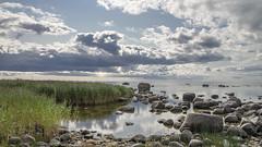 here, now ... (Seerin Kama) Tags: sky sea shore coast stone boulder landscape pentax k5