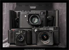 Leica M Monochrom 246, Leica CL analog, Minox 35 (Dierk Topp) Tags: leica leicacl leicammonochrom246 minox35 sonyfe24105mmf4goss zeisscbiogon21mm45 analog gear leicasummilux3514asph monochrom sony stills