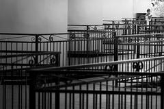zigzagando #2 (pamo67) Tags: pamo67 zigzag ringhiere railings people figura domma woman linee lines alloggi lodging estate summer ripetizione repetition repeat prospettiva perspective bn bianconero bw monochrome monocromo blackwhite pasqualemozzillo