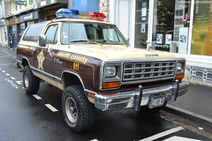 Dodge Ramcharger Sheriff (Monde-Auto Passion Photos) Tags: voiture vehicule auto automobile cars dodge ram charger ramcharger 4x4 suv toutterrain sheriff rassemblement france nemours rare rareté