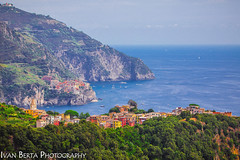 Sitting on the hill (Ivo.Berta) Tags: italy italia europe view color colors colour amazing brilliant nice wonderful beautiful blue water sea village history old composition canon photo