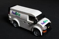 """Chevy Express Van """"FedBrix"""" (sponki25) Tags: fedbrix chevrolet express van lego moc five wide vehicle transporter mail delivery"""