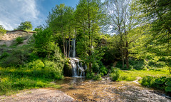 Bigar Waterfall (Charaxes14) Tags: lighting shadow green beautiful wonderful amazing beauty nature bokeh fantastic sunny summer landscape view scenery wide widefield sky blue mountains mountainside hill hills pine forest meadow field mountain trail serbia