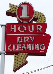 TN, Cleveland-U.S. 64(Old) 1 Hour Cleaners Neon Sign