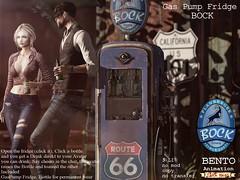 Retro Gaspump fridge BOCK (No.59) Tags: beer tray wood sixpack wear bento animation drink refreshing cold cool no59 drinks beerglas beerbottle fridge gaspump retro
