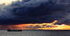 Baltic sea (JaaniicB) Tags: canon eos 77d tamron 70300 mm di vc usd gulf riga ship sunset golden hour