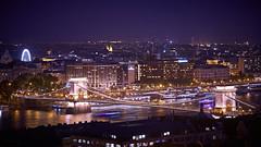 Buapest at night from Fisherman's Bastion (warner_pics) Tags: budapest hungary city cityskyline cityscape skyline europe night longexposure river lights bridges bridge sony ilce6300 selp18105g