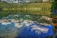 Tovel (giannipiras555) Tags: lago riflessi alberi montagna nuvole natura cielo landscape panorama