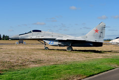 MiG-29S 23 blw RussianAF unmarked 190904 McMinnville 1001 [real identity 41 w MoldovanAF] (Nikon Photographer NL) Tags: russianairforce military preserved aviation evergreen mcminnville mig29