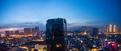 Ho Chi Minh City at dawn (Thanathip Moolvong) Tags: blue bluehour hour building city dawn nikon d750 panorama