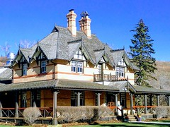 Sunday Brunch .... (Mr. Happy Face - Peace :)) Tags: brunch ranch estate 1880 fishcreek park yyc cowtown history historic heritage stylized art2019 hss diner cafe fine dormers shakes tudor architecture woodframe brick facade porch albertabound cans2s canada calgary