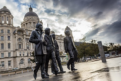 Beatles (Philip Brookes) Tags: beatles statue waterfront liverpool merseyside cloud sky city building architecture