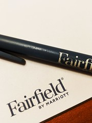 Fancy Hotel Stationary (Lake Effect) Tags: stationary macromondays hmm pen fairfieldinn newbedford massachusetts
