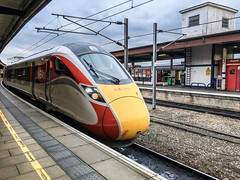 Azuma arriving at York (Mister Electron) Tags: apple iphonese mobilephone phonecam railway railwaystation railways train trains lner azuma electric diesel hybrid multipleunit hitachi
