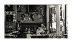 Caffe Reggio (Nico Geerlings) Tags: ngimages blackandwhite caffereggio greenwichvillage macdougalstreet manhattan nyc usa newyorkcity cafe landmark streetphotography nicogeerlings nicogeerlingsphotography