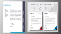 Letterhead template (DesignerEdge) Tags: web adds google facebook design graphic website flayer business card visiting fiverr professional letterhead resume cv premium luxury banner print ready files restaurant hotel food corporate real estate realestate new trendy year