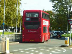 SLN 12282 - SN14TXA - OSR - ELTHAM ROAD YORKSHIRE GREY - SAT 19TH OCT 2019 (Bexleybus) Tags: stagecoach selkent london 122 tfl route eltham road green yorkshire grey roundabout mcdonalds adl dennis enviro 400 se9 12282 sn14txa