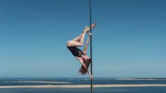 (dimitryroulland) Tags: nikon d750 50mm 18 dimitryroulland bordeaux arcachon ocean poledance poledancer pole dance dancer fit motivation blue sky