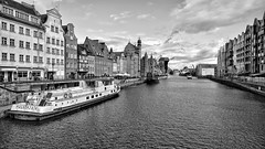View from the Bridge (rainerpetersen657) Tags: gdansk danzig polen polska poland travel city oldtown water river sony sonyalpha blackandwhite bw monochrome blancoynegro schwarzweiss