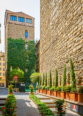 Florence Pocket Park and Green Wall (ken mccown) Tags: florence firenze italy park urban city building architecture stone