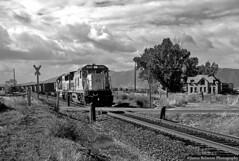 The Haunted House of Benjamin (jamesbelmont) Tags: unionpacific benjamin utah ge c408 sd60 coal hauntedhouse riverdrive monochrome railroad railway locomotive train