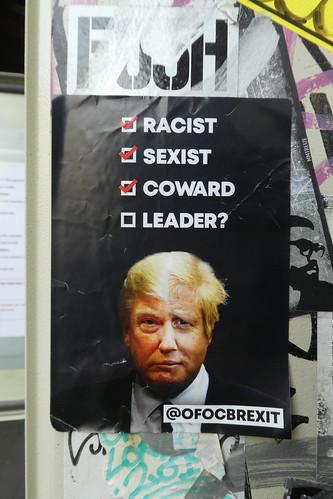 Racist, sexist, coward, leader?