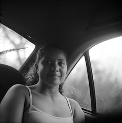 Carolina, Armero-Guayabal (RoryO'Bryen) Tags: roryobryen copyrightroryobryen colombia colombie rolleiflex rolleiflex28d armero armeroguayabal portrait retrato kodaktrix evening car road enviaje viajeporelríomagdalena tolima nuit