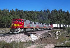 A-B-B-A, All The Way (jamesbelmont) Tags: atsf atchisontopekasantafe santfe flagstaff arizona ponderosa emd sd75m gp60b ge c408w railroad railway locomotive