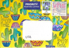 WIYM ~ Cover My envelope! (Closes May 13) (Rocky_Beach) Tags: swapbot mailart happymail envelope colourful watercolour rubberstamps