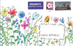 Flower Envelope (Rocky_Beach) Tags: swapbot mailart happymail doodle envelope watercolour flowers