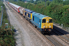 20096 20905 7X23 Stenson Junction (British Rail 1980s and 1990s) Tags: ee englishelectric type1 20 class20 br britishrail train rail railway loco railroad locomotive lmr londonmidlandregion mainline livery liveried diesel traction locohauled
