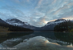 Emerald Dawn (Far From Pro) Tags: dawn mountains reflection emerald lake clouds yoho national park canada landscape