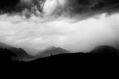 Armageddon (Ricoh GR1) (stefankamert) Tags: landscape armageddon noir noiretblanc blackandwhite blackwhite film analog lakecomo stefankamert kodak clouds mountains grain mood sun ilford fp4 0919