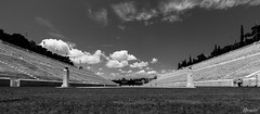 Athenas (jlperolet) Tags: athens greece olympic stadium landscape blackandwhite canon sport summer heaven