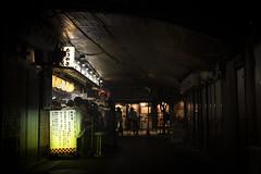 Izakaya style dinner under the bridge (Tim&Elisa) Tags: japan 東京 tokyo canon urban city night lights food drinks izakaya railway tokyostation